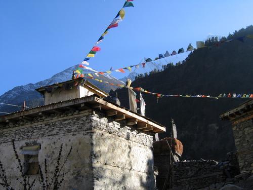 Tibetan prayer flags; Himalayan beauty