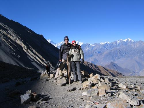 Our heroes having just climbed Thorung La Pass (17,500 feet!)