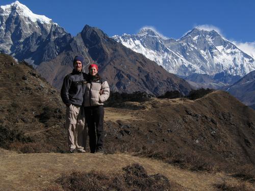 Climbing to Tengboche Monastery