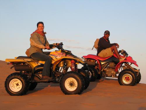 Sand dunes + quad bikes = Heaven
