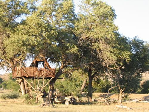 Our treehouse in Hobatere
