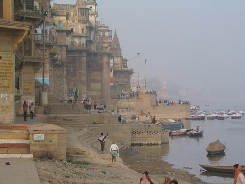 The West bank of the Ganges, Varanasi