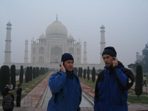 Agents Graham & Beckey checking in from a chilly Taj Mahal