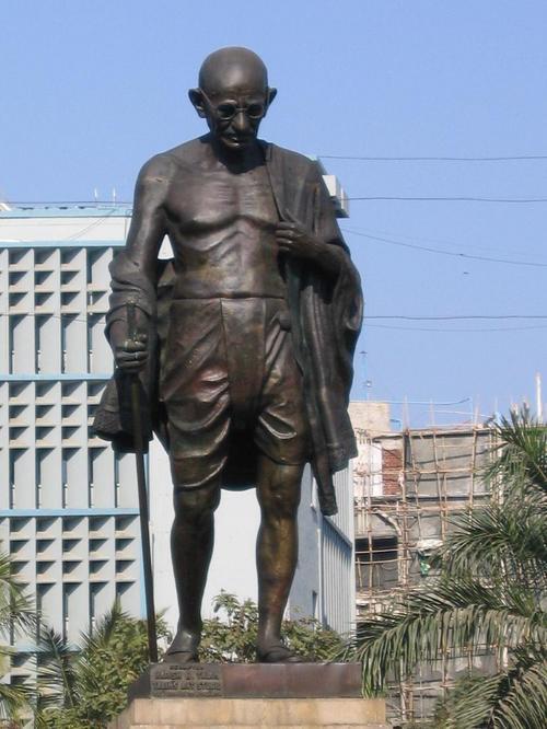 Gandhi Statue in Bombay