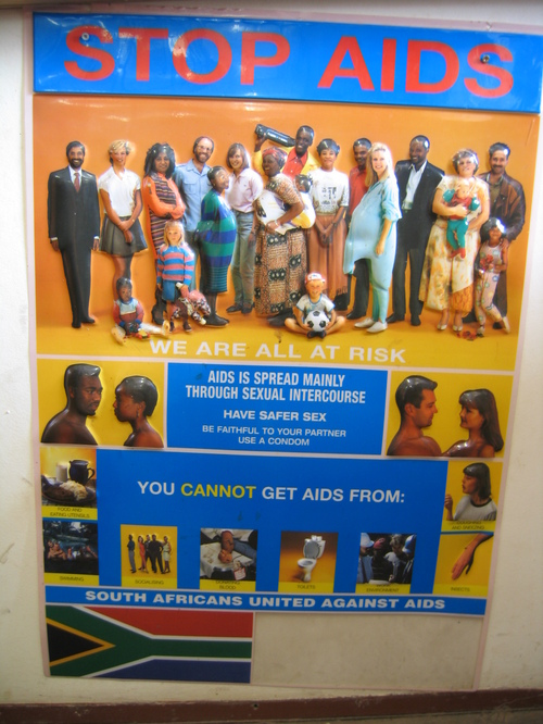 AIDS poster at Swaziland/South Africa border post