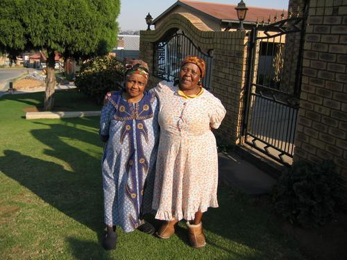 Two grannies in Soweto, outside Johannesburg