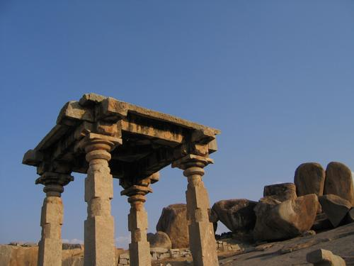 Granite remnants of Hampi's great civilization