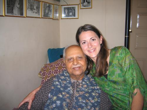 me & Bhauji, one of Meher Baba's last remaining disciples
