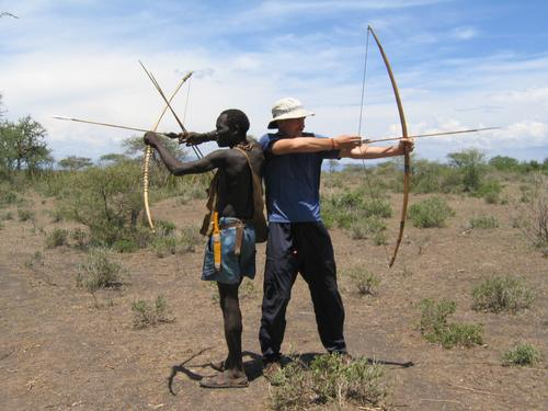 Giving the Hadzabe tribesmen some hunting tips