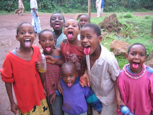 Red tongues and plenty of clowning