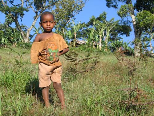 Chagga boy near Mt. Kilimanjaro