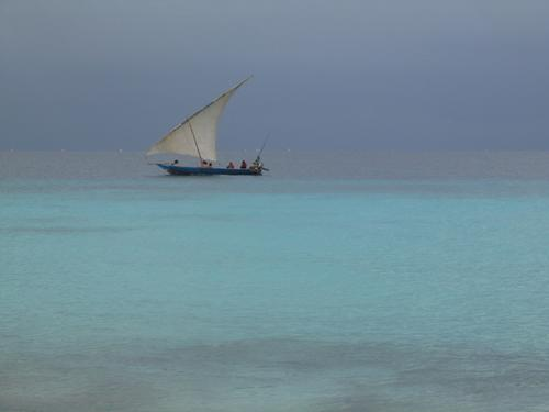 A dhow before the storm