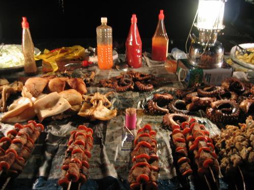 Marlin, tuna, kingfish, barracuda, calamari, octopus, chili sauce...